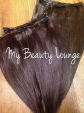 Buy 4 pcs Double Wefted Yaki Human Hair 12/14 inches Layered; Purplish and Brown color