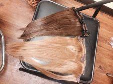 Buy 4 pcs Human Hair Slight Yaki Texture 14 inch Color 2 & 27