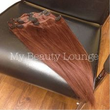 Buy Brand New - Color 33 Human Hair Slight Yaki Texture 6 pcs Clip in Set 14 inches