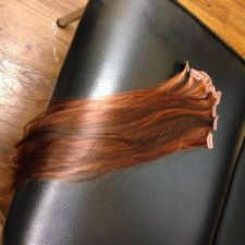 Buy 18 inch Highlight Red/ Brown synthetic hair Clip in 7pcs set