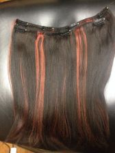 Buy 2 pcs Double wefted Full Human Blend 12 inch Handmade clip in set