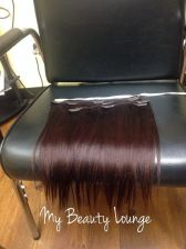 Buy Brand New 3 pcs 12/14 inch Human Blend Clip in Set - 99j deep burgundy colors