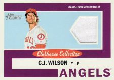 Buy 2013 Topps Heritage Clubhouse Collection Relics #CCR-CW - C.J. Wilson - Angels