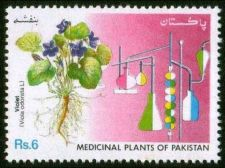 Buy Pakistan 1992 Violet Medicinal Plants Series (1v) MNH (US-01)