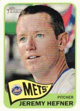 Buy 2014 Topps Heritage #199 - Jeremy Hefner - Mets