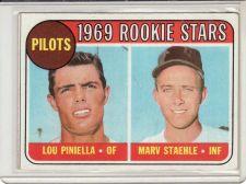 Buy 1969 Topps #394 - Lou Piniella - Marv Staehle - Pilots