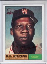 Buy 2010 Topps Heritage Real One Autographs #ROA-RCS - R.C. Stevens - Senators