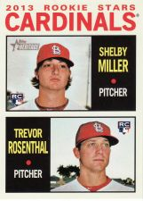 Buy 2013 Topps Heritage #262 - Shelby Miller - Trevor Rosenthal - Cardinals