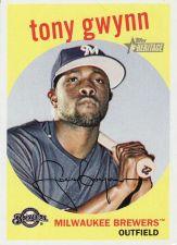 Buy 2008 Topps Heritage Black Back #286 - Tony Gwynn - Brewers