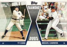 Buy 2011 Topps Diamond Duos #DD-CC - Ty Cobb - Miguel Cabrera - Tigers