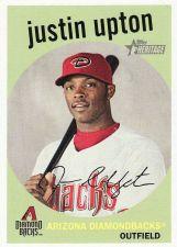 Buy 2008 Topps Heritage Black Back #54 - Justin Upton - Diamondbacks