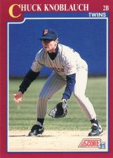 Buy 1991 Score Rookie & Traded #93T - Chuck Knoblauch - Twins