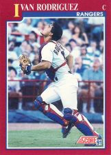 Buy 1991 Score Rookie & Traded #82T Ivan Rodriguez - Rangers
