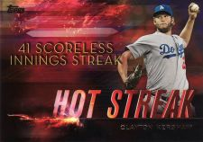 Buy 2015 Topps Hot Streak #HS-10 - Clayton Kershaw - Dodgers