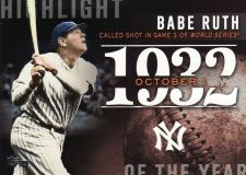 Buy 2015 Topps Highlight Of The Year #H3 - Babe Ruth - Yankees