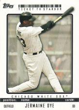 Buy 2009 Topps Ticket To Stardom #69 - Jermaine Dye - White Sox