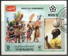Buy Yemen 1970 World Cup Football Championship Used Cancelled M/Sheet