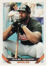 Buy 1993 Topps #109 - Sam Horn - Orioles