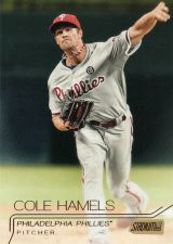 Buy 2015 Stadium Club Gold #198 - Cole Hamels - Phillies