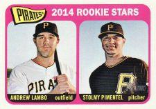 Buy 2014 Topps Heritage #143 - Andrew Lambo - Stolmy Pimentel - Pirates