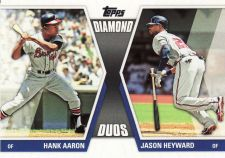 Buy 2011 Topps Diamond Duos 2 #DD-29 - Hank Aaron - Jason Heyward - Braves