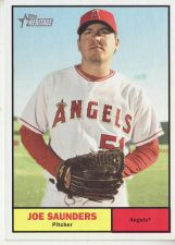 Buy 2010 Topps Heritage #412 Joe Saunders