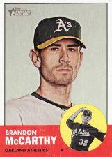 Buy 2012 Topps Heritage #338 - Brandon McCarthy - Athletics