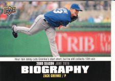 Buy 2010 Upper Deck Season Biography #SB-104 - Zack Greinke - Royals