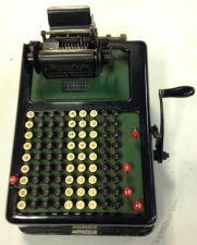 "Buy 1911 Vintage 9 Column Adding Machine ""The Barrett"" w/Hand Crank"