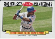 Buy 2009 O-Pee-Chee Highlights & Milestones #HM6 - Alfonso Soriano - Cubs