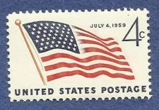 Buy US Stamp - 4 Cents Postage, US Flag, July 4 1959 Stamp - MNH