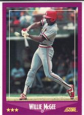 Buy 1988 Score #40 - Willie McGee - Cardinals