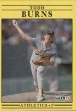 Buy 1991 Fleer #4 Todd Burns