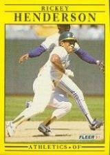 Buy 1991 Fleer #10 Rickey Henderson