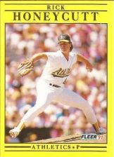 Buy 1991 Fleer #11 Rick Honeycutt