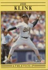 Buy 1991 Fleer #13 Joe Klink