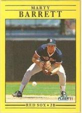 Buy 1991 Fleer #84 Marty Barrett