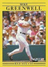 Buy 1991 Fleer #96 Mike Greenwell
