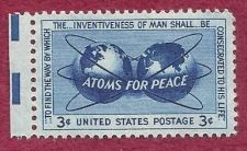 Buy US Stamp 1955 3c Stamp Atoms for Peace Scott #1070 MNH