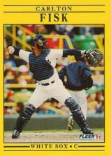 Buy 1991 Fleer #118 Carlton Fisk