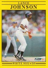 Buy 1991 Fleer #123 Lance Johnson