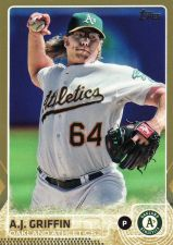 Buy 2015 Topps Gold #554 - A.J. Griffin - Athletics