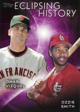 Buy 2015 Topps Eclipsing History #4 - Omar Vizquel - Ozzie Smith - Giants - Cardinals
