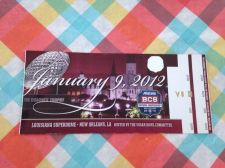 Buy 2012 BCS National Championship Ticket LSU vs. Alabama (VOID)