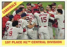 Buy 2015 Topps Heritage #379 - 1st Place Cardinals