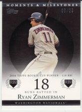 Buy 2007 Topps Moments & Milestones Black #68-18 - Ryan Zimmerman - Nationals