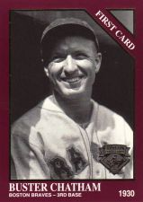 Buy 1994 Conlon Collection Burgundy #1287 - Buster Chatham - Braves