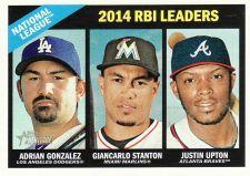 Buy 2015 Topps Heritage #219 - NL RBI Leaders - Gonzalez - Stanton - Upton