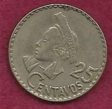Buy Guatemala 25 Centavos 1967 Coin - Choka de Guatemala - Hard to find!