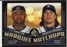 Buy 2008 SP Authentic Marquee Matchups #31 - C.C. Sabathia - Magglio Ordonez